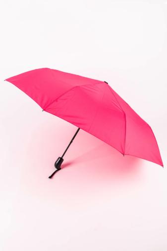 Kép 1/5 - Sötét Rózsaszín Automata Esernyő, 112 cm Átmérővel