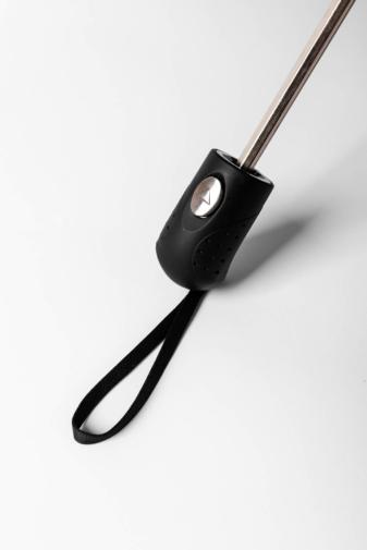 Kép 4/5 - Kívül Fekete, Belül Lila Galaxy Mintás Automata Esernyő, 113 cm Átmérővel