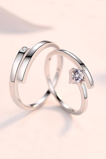 Kép 1/4 - A & ONE Állítható, S925 Ezüst Gyűrű Cirkónia Kővel- Női