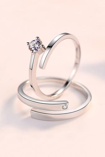 Kép 2/4 - A & ONE Állítható, S925 Ezüst Gyűrű Cirkónia Kővel- Női