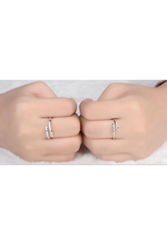 Kép 3/4 - A & ONE Állítható, S925 Ezüst Gyűrű Cirkónia Kővel- Női