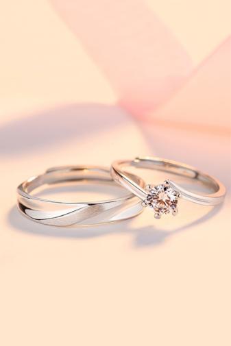 Kép 2/5 - A & ONE Állítható, S925 Ezüst, Cirkónia Köves Gyűrű - Női