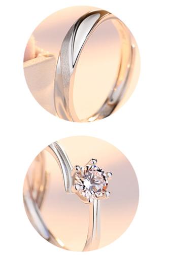 Kép 5/5 - A & ONE Állítható, S925 Ezüst, Cirkónia Köves Gyűrű - Női