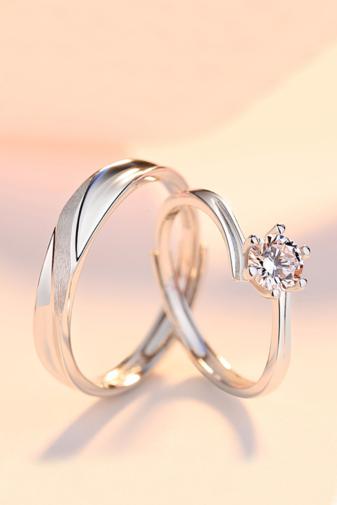 Kép 1/5 - A & ONE Állítható, S925 Ezüst, Cirkónia Köves Gyűrű - Női