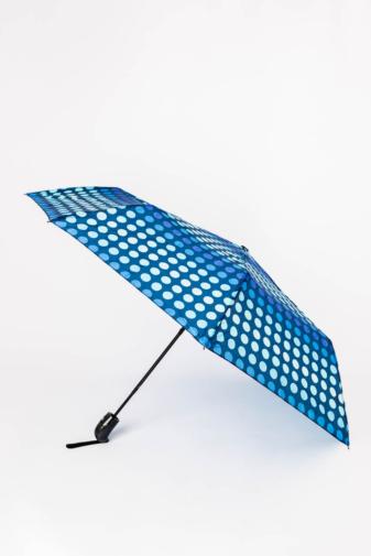 Kép 1/4 - Kék Pöttyös Automata Esernyő, 105 cm Átmérővel