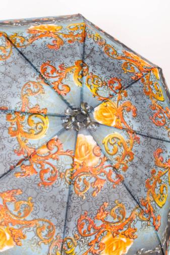 Kép 2/3 - Színes Narancssárga Mintájú Automata Esernyő, 105 cm Átmérővel