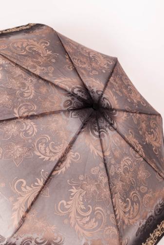 Kép 2/3 - Szürke És Bézs Mintájú Automata Esernyő, 105 cm Átmérővel