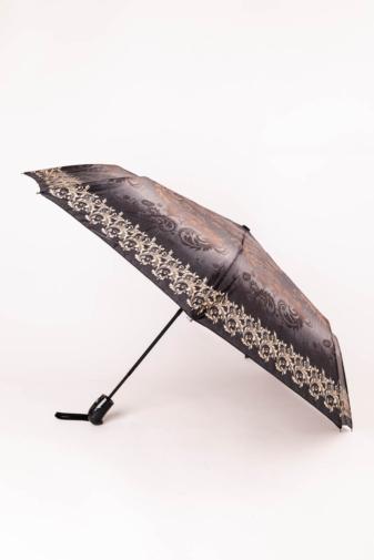 Kép 1/3 - Szürke És Bézs Mintájú Automata Esernyő, 105 cm Átmérővel