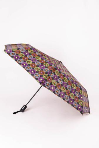 Kép 1/3 - Színes Karika Mintájú Automata Esernyő, 105 cm Átmérővel