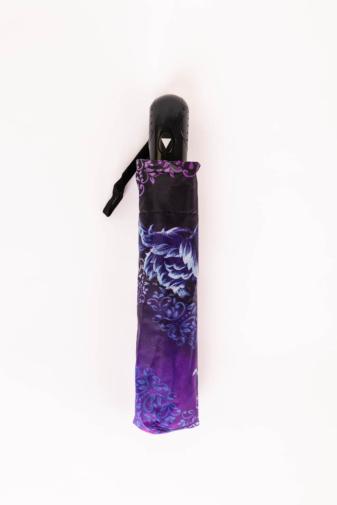 Kép 3/3 - Kék és Lila,Fekete Mintájú Automata Esernyő, 105 cm Átmérővel