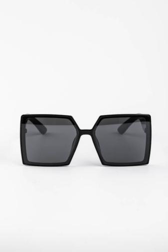 Kép 1/3 - A & ONE Fekete Nagy Méretű Szögletes Műanyag Keretes Napszemüveg