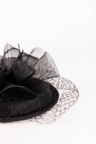Kép 3/4 - A & ONE Fekete Rózsa Alakú Díszítésű Hajdísz