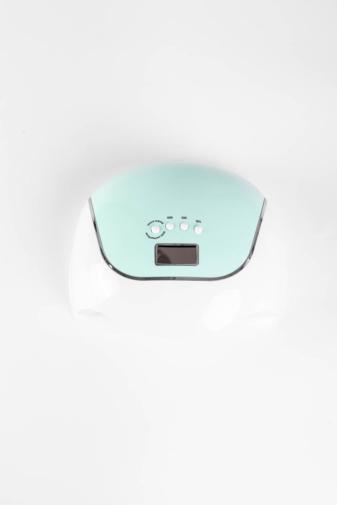 Kép 4/4 - Zöld-Fehér Színű Köröm- És Gélszárító UV/LED Lámpa 120W