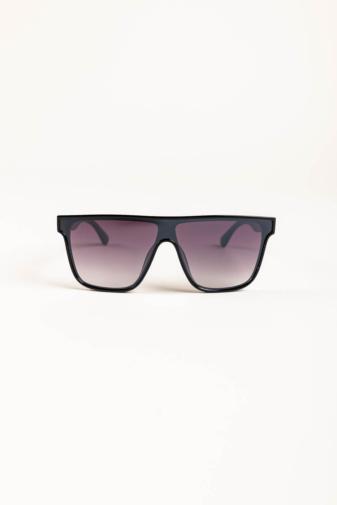 Kép 1/3 - A & ONE Fekete Nagy Méretű, Szárán Piros-Zöld Díszítésű Napszemüveg