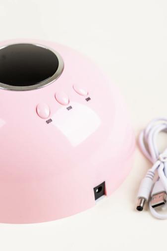 Kép 3/4 - Rózsaszín Köröm- És Gélszárító UV/LED Lámpa, 24 W