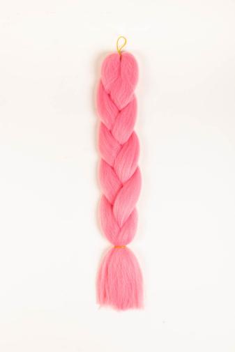 Kép 1/3 - A & ONE Rózsaszín Szintetikus Póthaj Fonáshoz