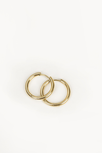 Kép 2/3 - A & ONE Arany Színű Kicsi Karika Fülbevaló 2 cm