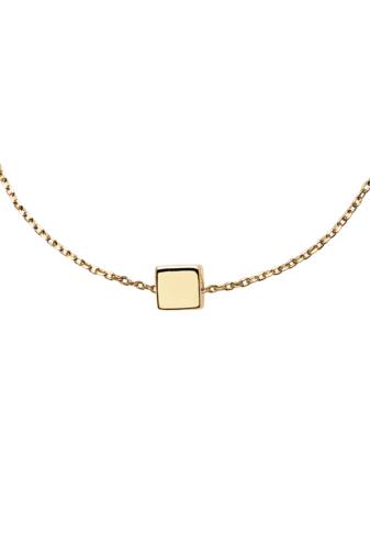 Kép 3/3 - PDPAOLA Aranyozott S925 Ezüst Arany Színű Dobókocka Medálos Karkötő