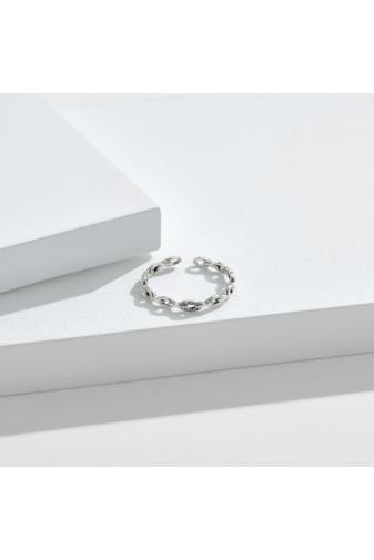 Kép 4/4 - A & ONE Állítható S925 Ezüst Lánc Formájú Gyűrű