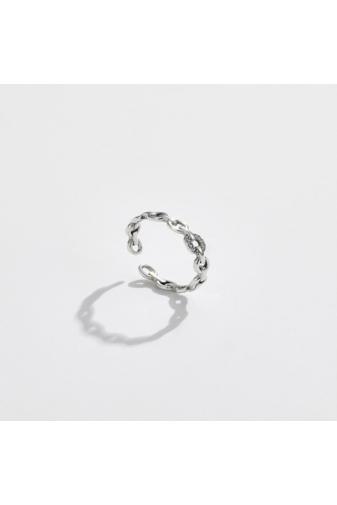 Kép 2/4 - A & ONE Állítható S925 Ezüst Lánc Formájú Gyűrű