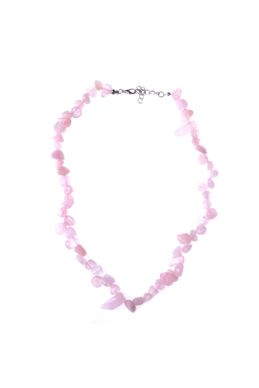 A & ONE Világos rózsaszín köves női nyaklánc
