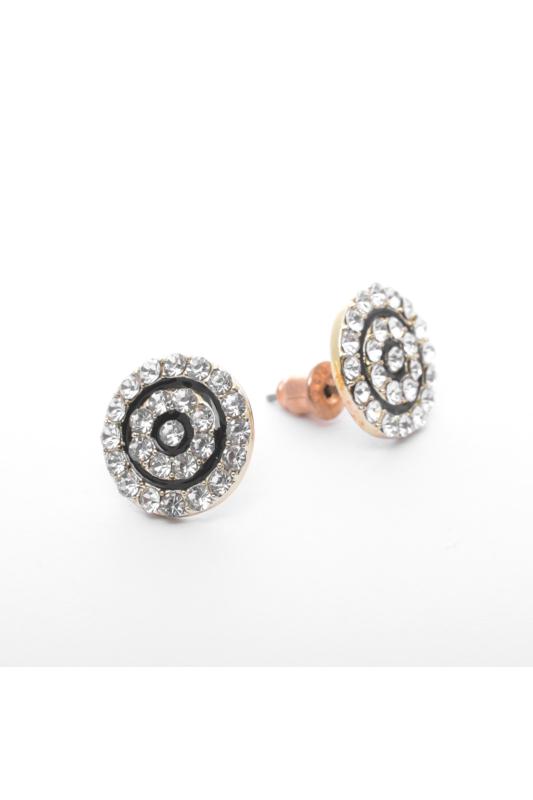A & ONE Arany színű csillogó strasszal díszített fülbevaló
