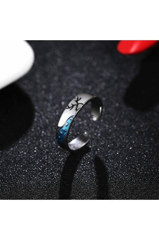 A & ONE Ezüst, szarvast ábrázoló gyűrű - 18 mm