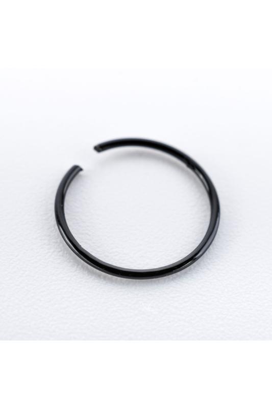 A & ONE Fekete Színű Karika Orr Piercing