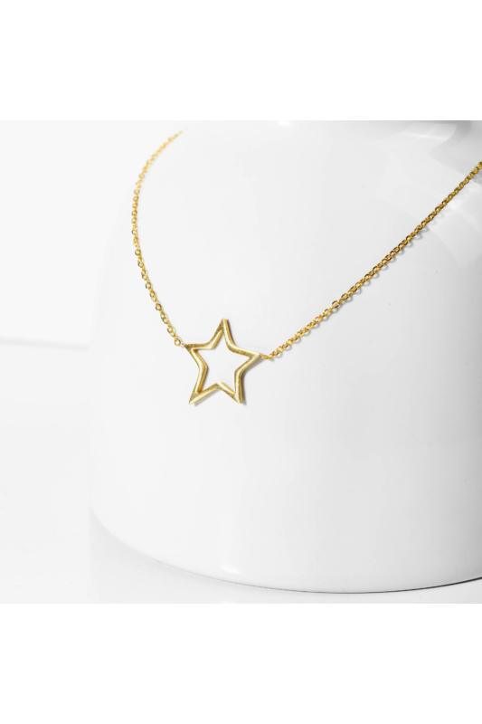 A & ONE Rozsdamentes acél nyaklánc, csillag medállal