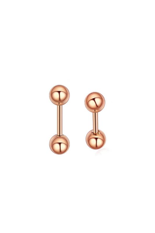 A & ONE Rózsaarany Színű Orvosi Acél Piercing, 6 mm
