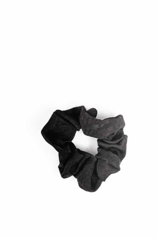 A & ONE Fekete Szaténszerű Fényes Anyagból Készült Hajgumi