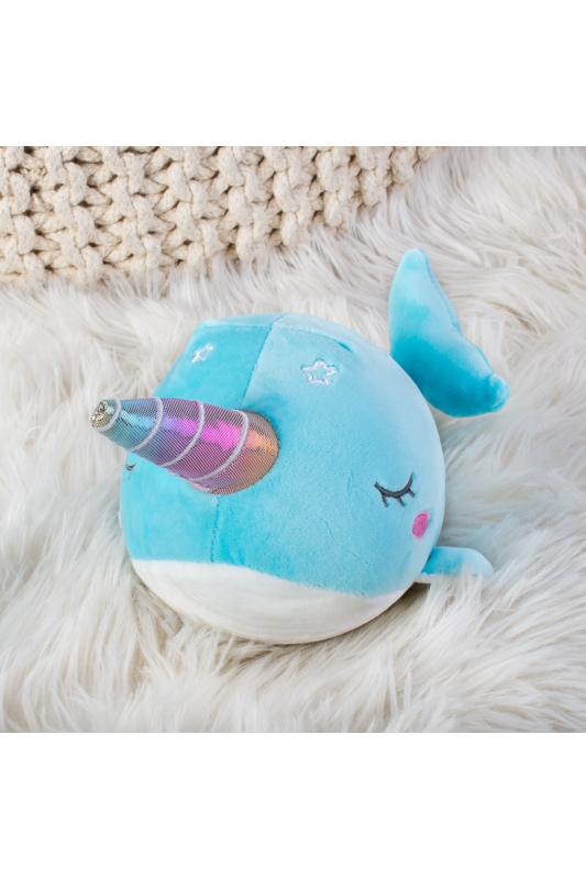 A & ONE Kék unikornis bálna plüss játék / párna