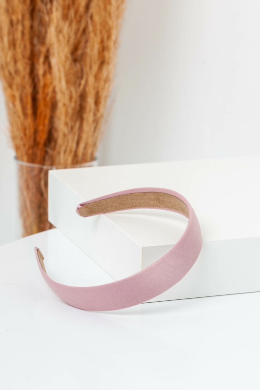 A & ONE Fényes Rózsaszín Textil Hajpánt