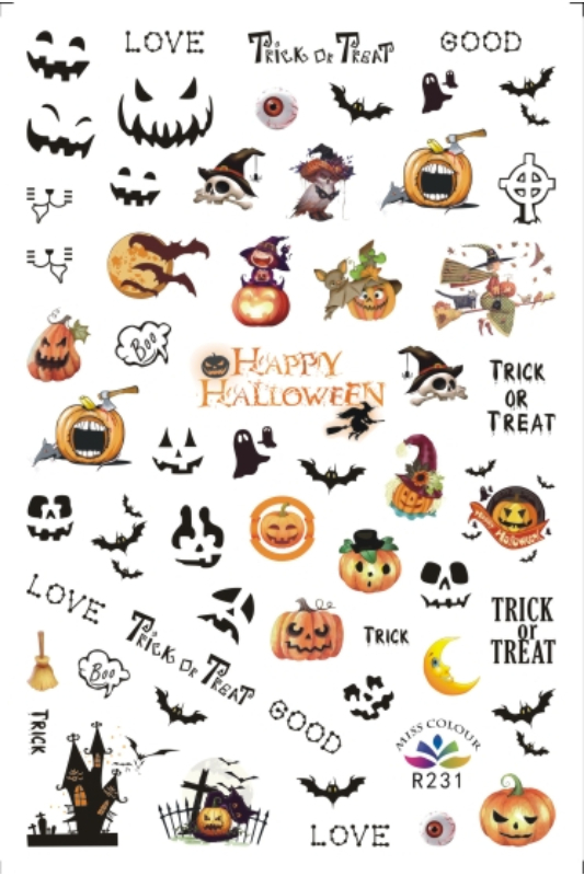 Moonbasa Akril Hatású Halloweeni Körömmatrica -- Trick Or Treat