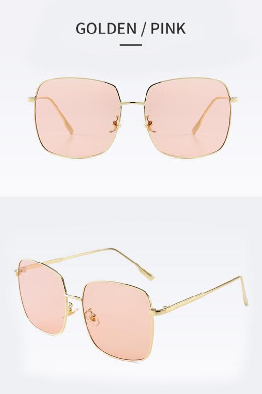 A & ONE Pink Lencsés Fényes Arany Keretes Női Napszemüveg