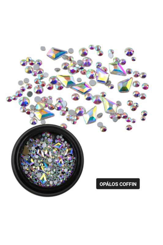 Nagy Gyémántcsepp Alakú Ezüst Hologramos Köröm Strasszkő Válogatás 10db+150db kis kő