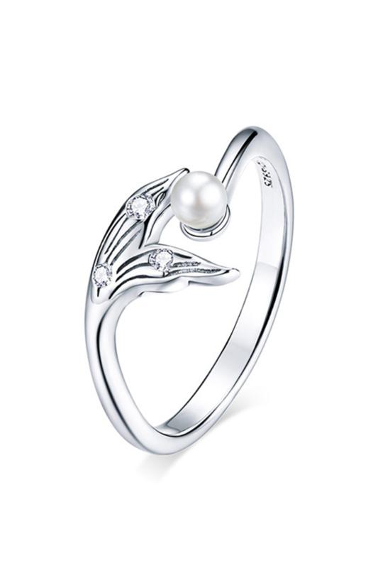 A & ONE Állítható, Aranyozott S925 Ezüst Gyűrű, Cirkónia Kövekkel És Gyönggyel