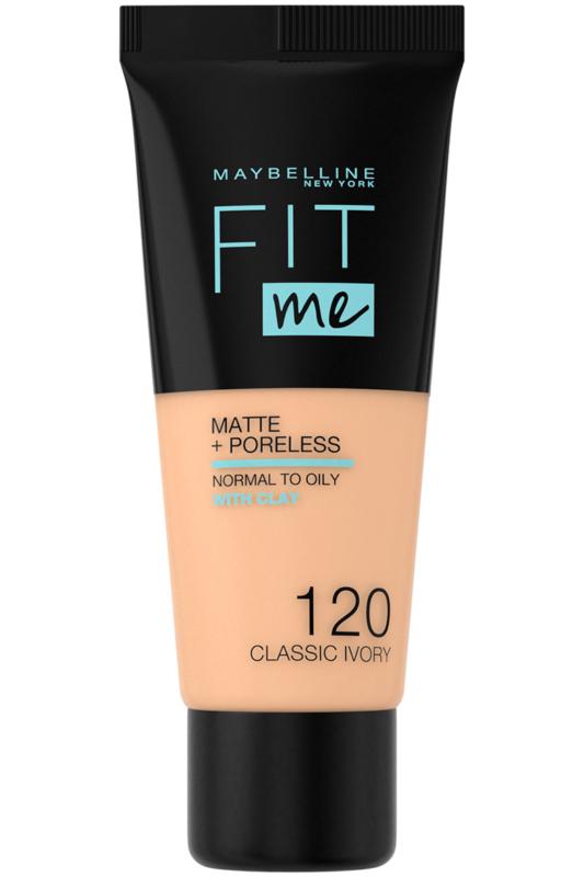 Maybelline Fit Me Matte & Poreless Pórusösszehúzó Alapozó -- 120 Classic Ivory