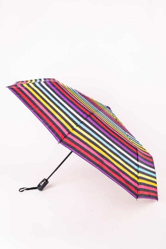 Színes Csíkos Automata Esernyő, 105 cm Átmérővel