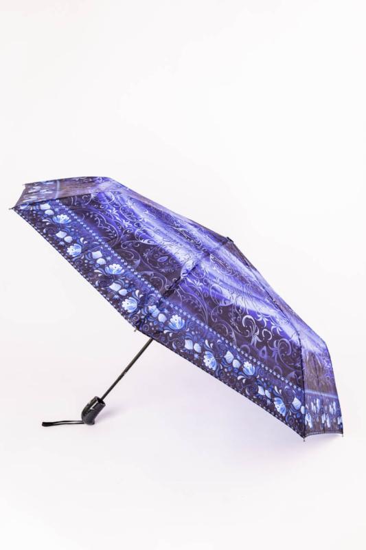 Fekete és Kék Mintájú Automata Esernyő, 105 cm Átmérővel