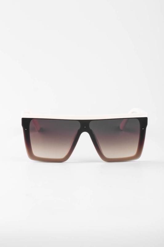 A & ONE Bézs, Barna Lencsés Nagy Méretű Szögletes Napszemüveg