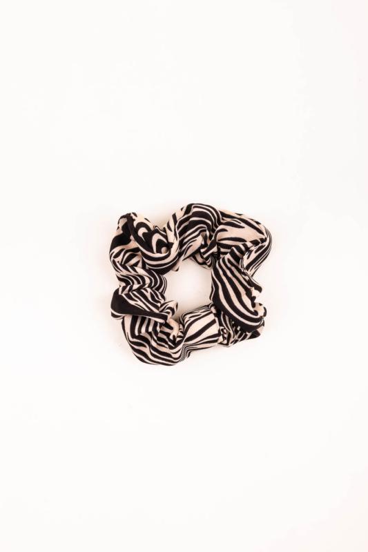 A & ONE Fekete-Bézs Zebra Mintás Hajgumi