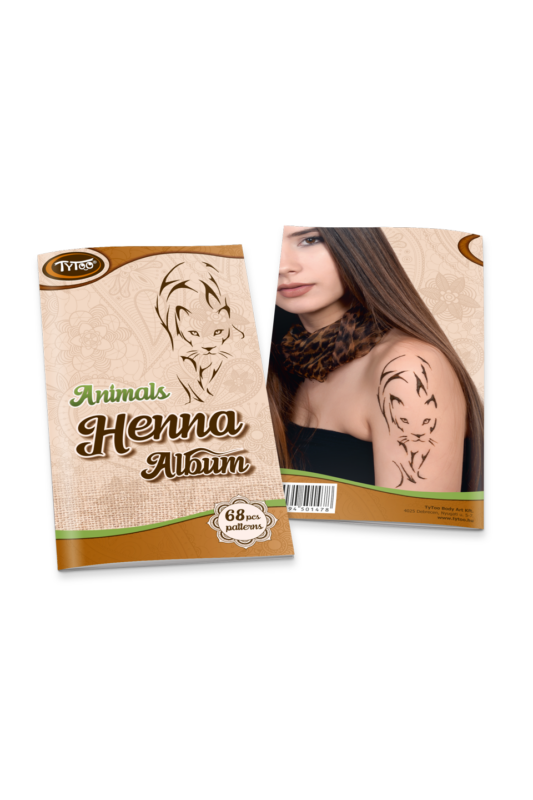 TyToo Állatos Henna Album, 68 Mintával