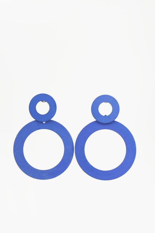 A & ONE Kék Kör Alakú Bohém Lógós Fülbevaló
