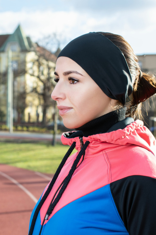 A & ONE Fekete Színű Extra Rugalmas Fejpánt Sportoláshoz