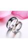 A & ONE Rózsaarany/ezüst Színű Rozsdamentes Acél Karikagyűrű Cirkónia kővel