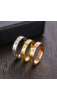 A & ONE Rózsaarany Színű Karika Gyűrű Cirkónia Kövekkel És Római Számokkal
