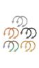 A & ONE Ezüst Színű Rozsdamentes Acél Patkó Piercing Tüske Végekkel