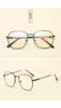 A & ONE Fekete Színű Retro Keretes Szemüveg Átlátszó Lencsékkel