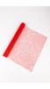 A & ONE Piros Hálós Csillámos Csomagoló, Dekorációs Papír, 0,48 x 1 m